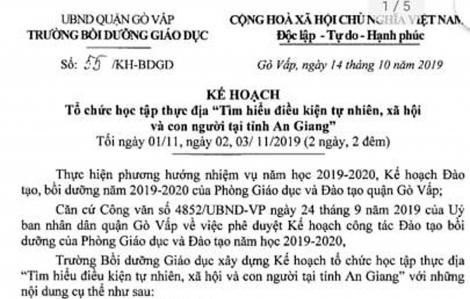 Trường Bồi dưỡng giáo dục quận Gò Vấp liên tiếp tổ chức học tập thực địa: Đi nhiều, học được bao nhiêu?