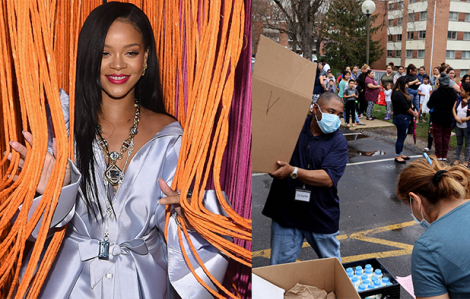 Ca sĩ Rihanna và nhiều nghệ sĩ Hollywood quyên góp chống dịch