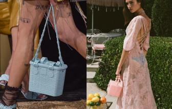 Túi xách nhựa giả mây tre đan trở thành xu hướng hè 2020