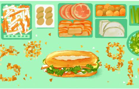 Google Doodle vinh danh bánh mì Việt Nam