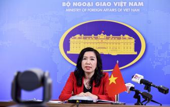 Việt Nam phản đối việc diễn tập bắn đạn thật và dựng trạm nghiên cứu ở Trường Sa