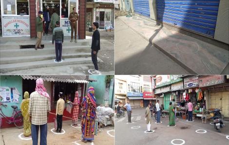 Ấn Độ: Hàng rau lề đường cũng phải vẽ ô an toàn