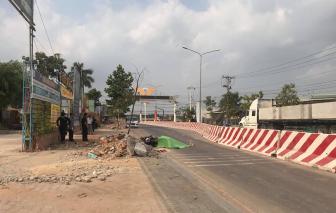 Xe tải cán chết người đàn ông đi xe máy trên đoạn đường đang thi công