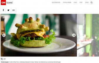 Bánh Burger Corona sáng tạo của người Việt lên báo CNN