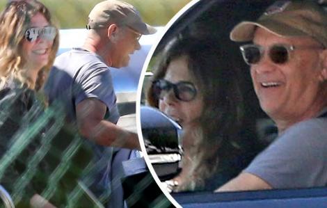 Vợ chồng Tom Hanks về Mỹ sau khi chữa khỏi COVID-19 tại Úc