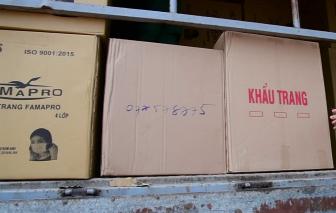 Phát hiện vụ dùng xe tải vận chuyển hơn 357.000 khẩu trang ở TPHCM