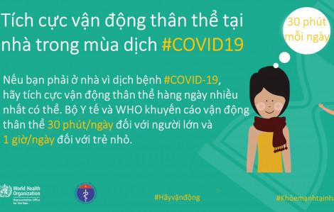 Tập thể dục trong nhà mùa COVID-19, bao nhiêu phút là đủ?