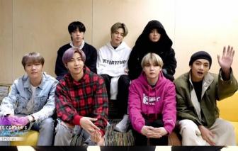 BTS biểu diễn trực tiếp từ phòng thu Hàn lên truyền hình Mỹ