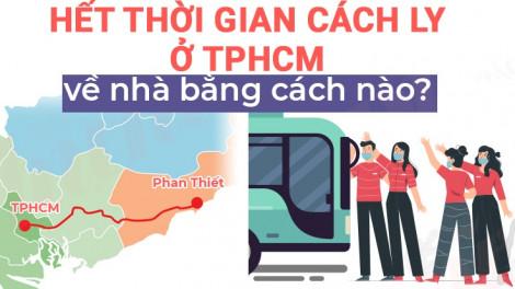 Hết thời gian cách ly ở TPHCM, hàng ngàn người về nhà bằng cách nào?