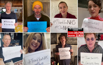Lời cảm ơn từ Elton John, David Beckham, Kate Winslet và 10 triệu USD chống COVID-19