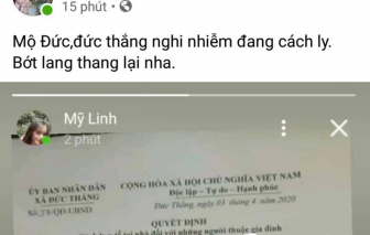 Quảng Ngãi xử phạt cá nhân tung thông tin người cách ly y tế lên Facebook