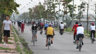 Nghệ An: Xử phạt nhiều người dân không đeo khẩu trang khi tập thể dục nơi công cộng