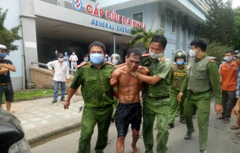 Bắt đối tượng mang xăng phóng hỏa Bệnh viện đa khoa tỉnh Quảng Ngãi