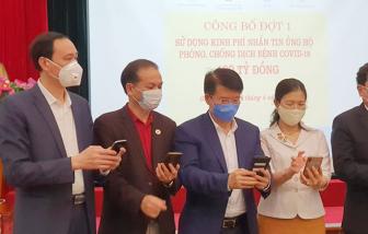 Chi 100 tỷ đồng từ nguồn tin nhắn ủng hộ để mua thiết bị phòng chống dịch COVID-19
