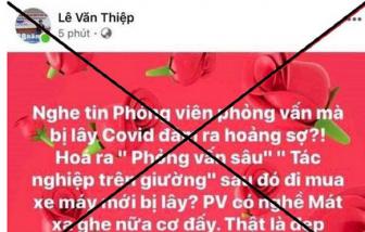 Luật sư Lê Văn Thiệp bị phạt 8 triệu đồng do xúc phạm nữ nhà báo trên Facebook