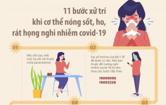 Nóng sốt, ho, rát họng... nhớ ngay 11 bước xử trí này