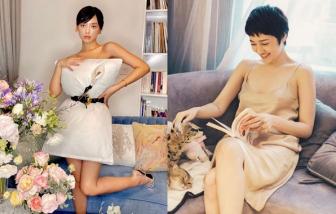 Ở nhà cách ly, sao Việt đua nhau khoe thời trang váy ngủ và bắt trend váy gối