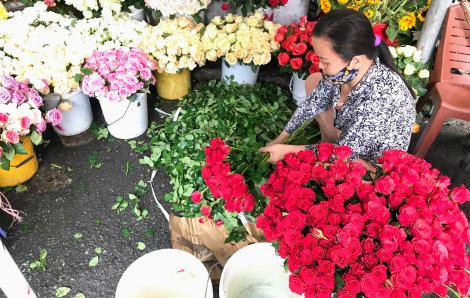 """Hoa Đà Lạt """"cho không"""", về Sài Gòn muốn mua rẻ phải ra lề đường"""