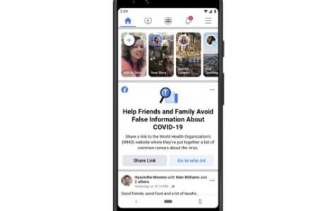 """Facebook sẽ cảnh báo cho người dùng biết """"tin vịt"""" về COVID-19"""