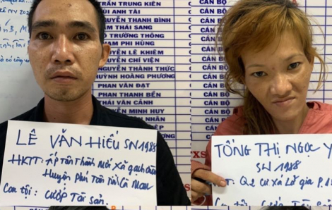 Thiếu tiền mua ma túy, đôi tình nhân dùng dao kề cổ tài xế Go-Viet cướp tài sản