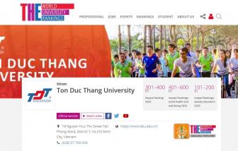 Việt Nam có hai trường đại học lọt top 301-400 của THE