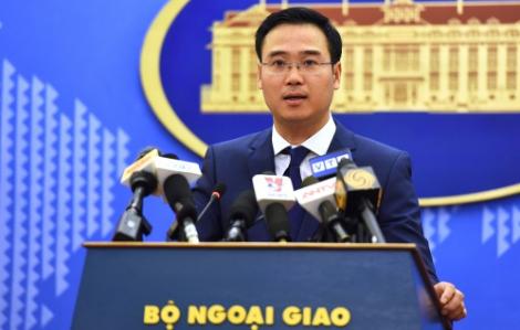 """Việt Nam phản bác việc Trung Quốc đặt """"danh xưng"""" các thực thể trên Biển Đông"""