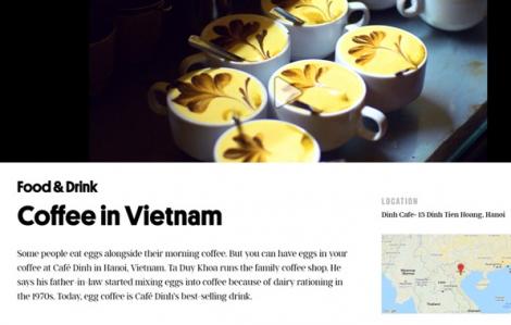 Cà phê trứng Hà Nội được truyền thông nước ngoài khen ngợi