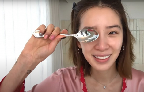 Clip: Irene Kim bật mí cách làm da căng bóng bằng muỗng