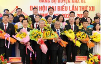 Ông Dương Thế Trung, Bí thư Huyện ủy Nhà Bè tái đắc cử nhiệm kỳ 2020-2025