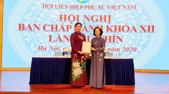 Bà Hà Thị Nga được bầu giữ chức vụ Chủ tịch Hội Liên Hiệp Phụ nữ Việt Nam
