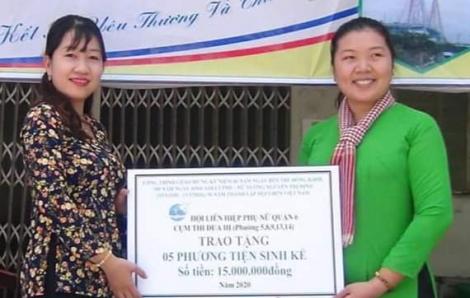 48 bồn chứa nước và 30 phương tiện làm nông cho phụ nữ Bến Tre