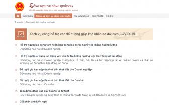 Cách nộp hồ sơ trực tuyến để hưởng gói hỗ trợ do COVID-19