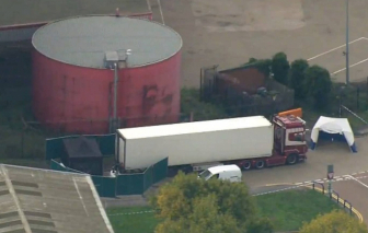Vụ 39 thi thể trong container tại Anh: Bị cáo người Ireland cầm đầu một tổ chức tội phạm