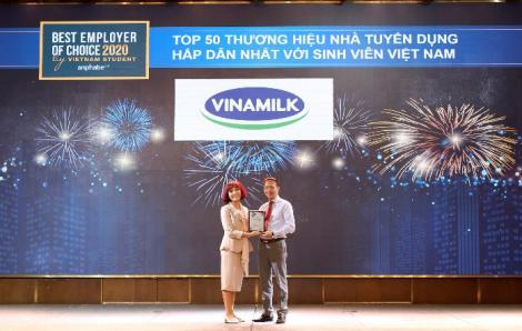 Vinamilk là một trong những nhà tuyển dụng hấp dẫn nhất đối với thế hệ trẻ
