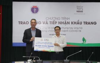 Nestlé Việt Nam ủng hộ Bộ Y tế 88.000 khẩu trang cho hoạt động chống dịch bệnh COVID-19