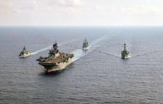 Tàu sân bay Roosevelt trở lại khi Trung Quốc tăng cường quấy rối ở Biển Đông