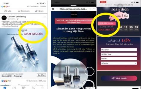 Mỹ phẩm Lancôme giả bán tràn lan trên fanpage, website