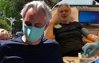 Danh ca mù Andrea Bocelli và vợ mắc COVID-19, bí mật tự điều trị