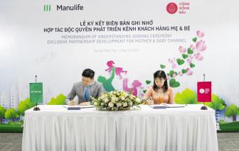 Manulife và Cộng Đồng Bầu ký kết biên bản ghi nhớ hợp tác độc quyền, mở ra giải pháp sống mới cho mẹ và bé