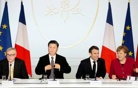 Châu Âu tìm cách cân bằng quan hệ với Mỹ và Trung Quốc