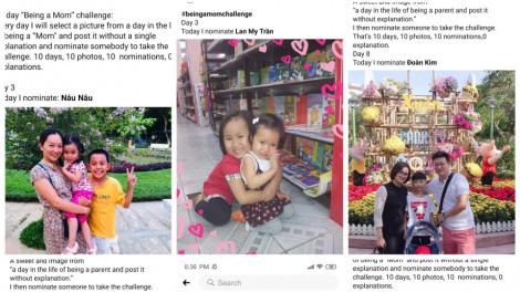 Trào lưu thú vị trên Facebook: 10 ngày 10 bức ảnh thử thách làm mẹ