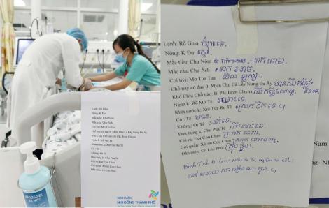 Điều dưỡng học tiếng Khơ-me để hỏi thăm sức khỏe bệnh nhi