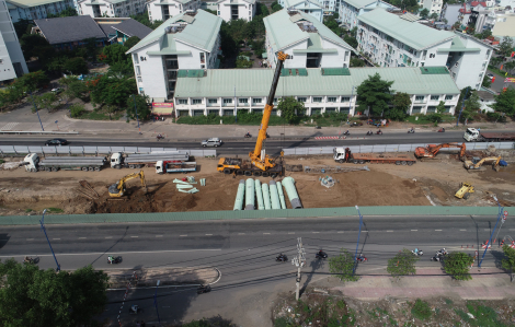 Công trình đường dây 220kV Cát Lái - Tân Cảng: còn chỗ vẫn chưa có mặt bằng thi công