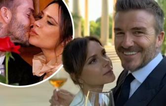 Vợ chồng David Beckham lãng mạn kỷ niệm 21 năm ngày cưới
