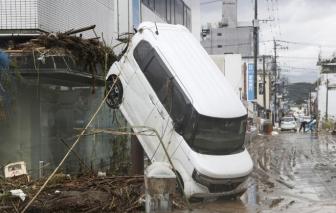 Mưa lũ tiếp tục hoành ở Nhật, ít nhất 49 người thiệt mạng
