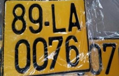 Từ 1/8, xe kinh doanh vận tải phải dùng biển số màu vàng
