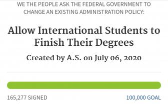 Du học sinh ký đơn kiến nghị Chính phủ Mỹ tạo điều kiện hoàn thành chương trình học