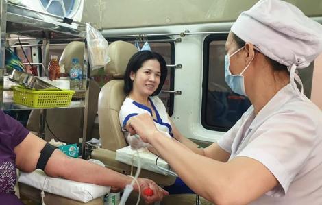 Cùng trao tặng 95,6 đơn vị máu