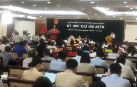 Kỳ họp thứ 20 HĐND TPHCM khóa IX: Tập trung bàn giải pháp khôi phục kinh tế 6 tháng cuối năm
