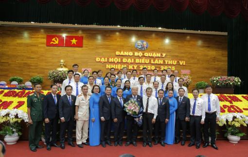 Ông Võ Khắc Thái tái đắc cử Bí thư Quận ủy quận 7